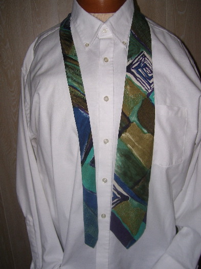 Art abstract tie